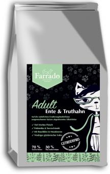 FARRADO Adult - Ente & Truthahn mit Buschklee & Moosbeeren, getreidefrei 1,5 kg