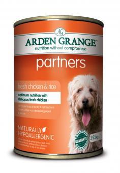 Arden Grange Partners mit Hühnchen - Super Premium Nassfutter 24 x 395 gr.