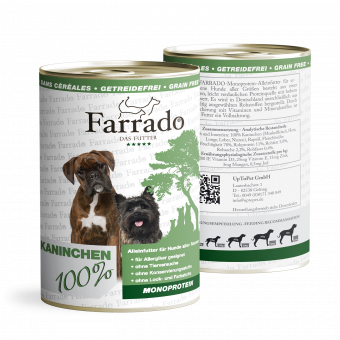 Farrado Dose Kaninchen 400g - 100% Monoprotein