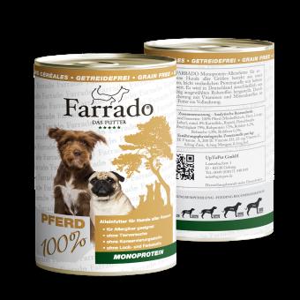 Farrado Nassfutter Pferd 800g - 100% Monoprotein