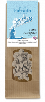 FARRADO Snack al Naturale 100 % Weissfisch gefriergetrocknet