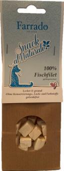 FARRADO Snack al Naturale 100 % Weissfisch gefriergetrocknet 30 gr.