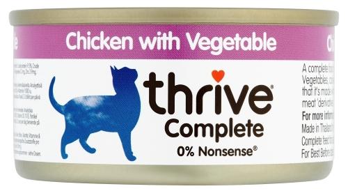 THRIVE Katzen Nassfutter 75 gr Dose Hühnchenbrust & Gemüse