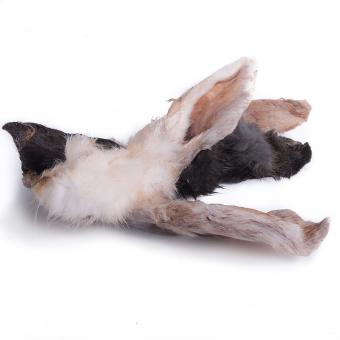 FARRADO Hundesnack Kaninchenohren mit Fell