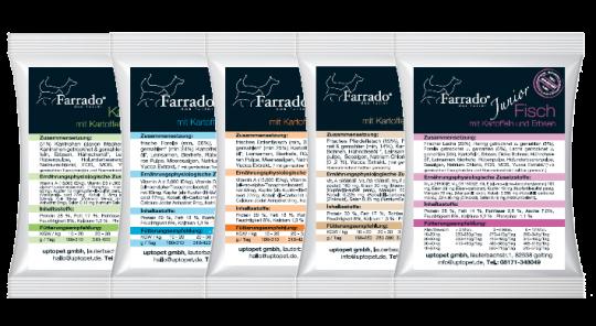 100 gr. Proben Trockenfutter Farrado, getreide- und glutenfrei Forelle mit Kartoffeln & Früchten