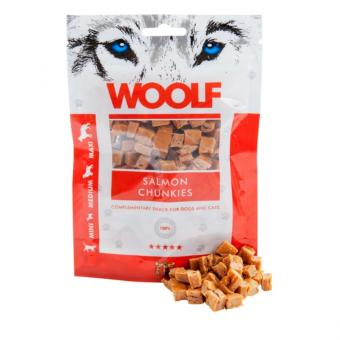 WOOLF Lachs Chunkies 100g für Hunde und Katzen