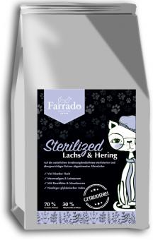 FARRADO Sterilized - Frischer Lachs mit Yucca & Heidelbeeren, getreidefrei