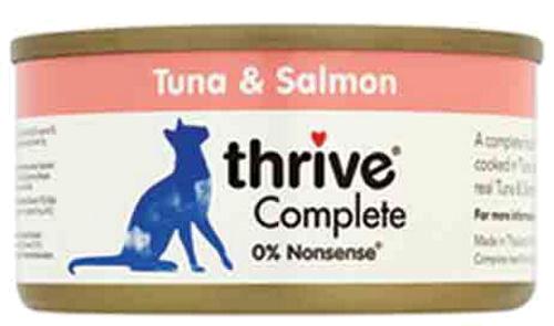 THRIVE Katzen Nassfutter 6 Dosen à 75 gr. Sparpaket Thunfisch & Lachs