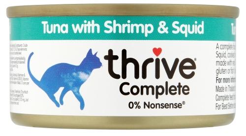 THRIVE Katzen Nassfutter 75 gr Dose Thunfisch & Shrimps & Kalamari