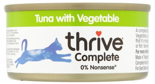 Thunfischfilet mit Gemüse 75g Cat Complete