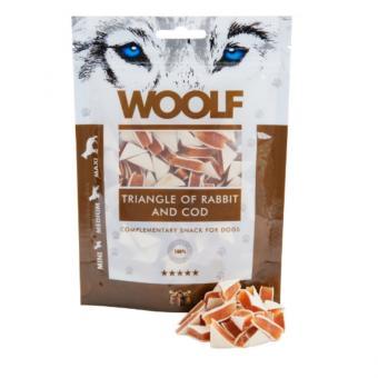 WOOLF Kaninchen Sandwichecken 100 gr. für Hunde und Katzen