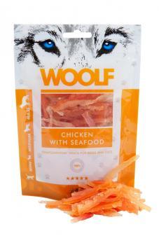 WOOLF Hühnchen & Meeresfrüchte 100g für Hunde und Katzen