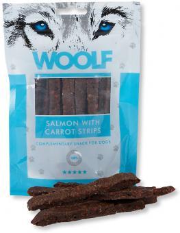 WOOLF Lachsstreifen mit Karotte 100g