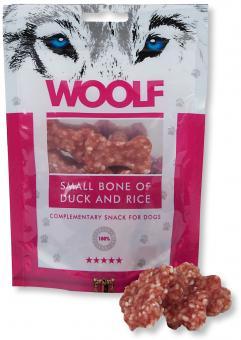 WOOLF Kleine Knochen mit Ente und Reis 100 gr.